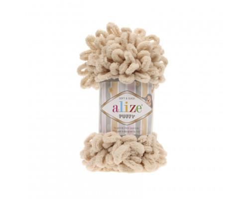 Пряжа/нитки Alize Puffy – цвет 310 медовый