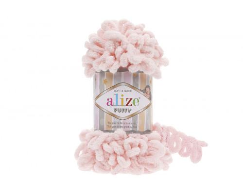 Пряжа/нитки Alize Puffy – цвет 733 нежный персик