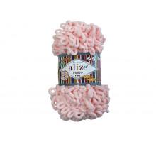 Alize Puffy Fine 340 розовая пудра