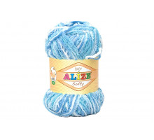 Alize Softy 51305 белый/голубой