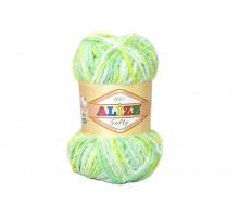 Alize Softy 51626 бело-желто-салатовый