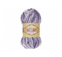 Alize Softy 51627 белый/сиреневый