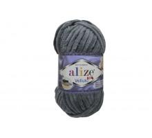 Alize Velluto 087 угольный