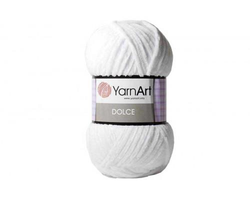 Пряжа/нитки YarnArt Dolce - цвет 741 белый