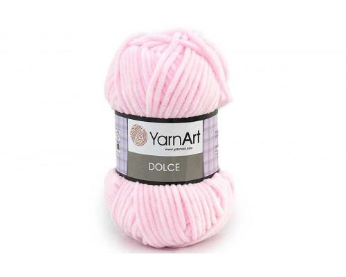 Пряжа/нитки YarnArt Dolce - цвет 750 нежно-розовый