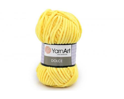 Пряжа/нитки YarnArt Dolce - цвет 761 желтый