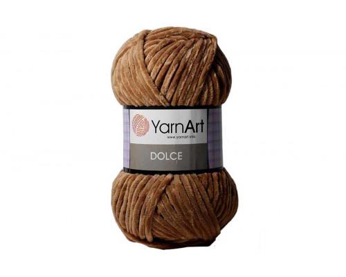 Пряжа/нитки YarnArt Dolce - цвет 765 коричневый