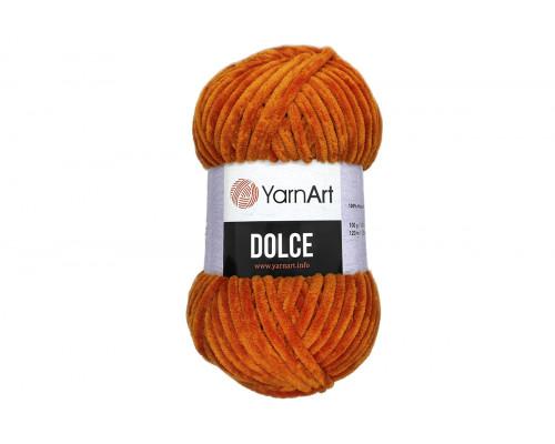 Пряжа/нитки YarnArt Dolce - цвет 778 рыжий