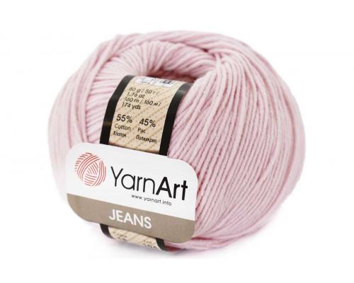 Пряжа/нитки YarnArt Jeans - цвет 18 нежно-розовый