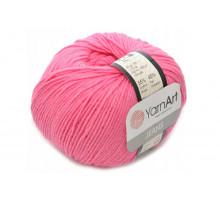 YarnArt Jeans 42 ярко-розовый