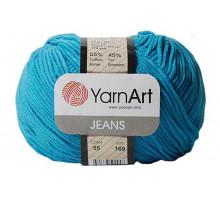 YarnArt Jeans 55 темная бирюза