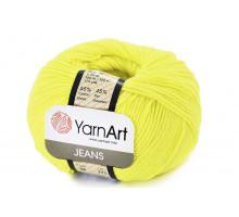 YarnArt Jeans 58 желтый неон