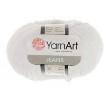 YarnArt Jeans 62 белоснежный