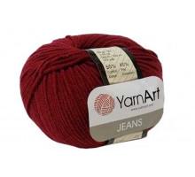 YarnArt Jeans 66 бордо
