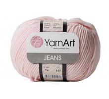 YarnArt Jeans 74 бледно-розовый