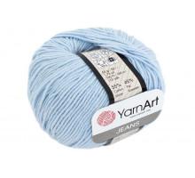 YarnArt Jeans 75 нежно-голубой
