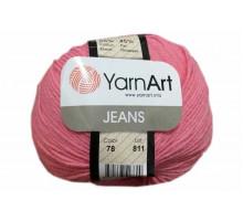YarnArt Jeans 78 розово-коралловый