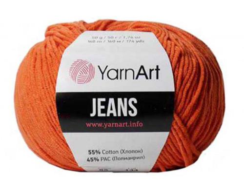 Пряжа/нитки YarnArt Jeans – цвет 85 терракот