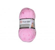 YarnArt Baby Color 266 розовый/клеверный
