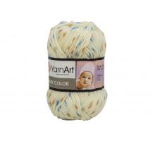 YarnArt Baby Color 268 бежевый-синий-карамель