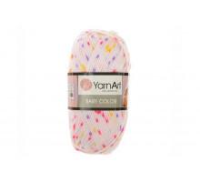 YarnArt Baby Color 5127 белый/сиреневый/розовый/желтый