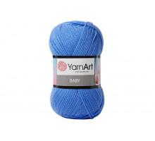 YarnArt Baby 600 ярко-голубой