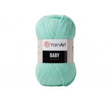 YarnArt Baby 623 зеленая бирюза