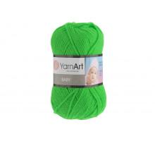 YarnArt Baby 8233 зеленый неон