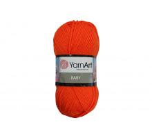 YarnArt Baby 8279 оранжевый неон