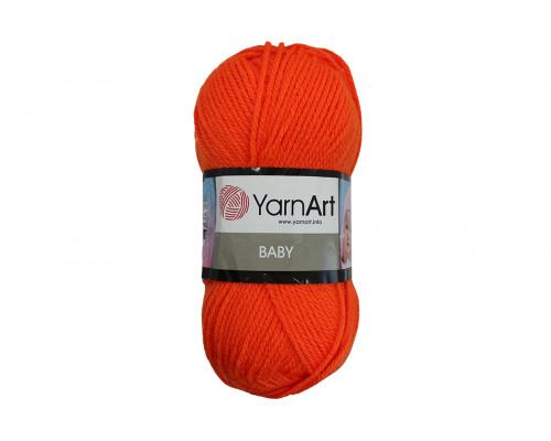 Пряжа ЯрнАрт Беби – цвет 8279 оранжевый неон