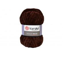 YarnArt Dolce Maxi 775 темно-коричневый