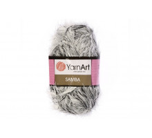 YarnArt Samba A64 белое серебро-черый