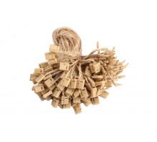 Биркодержатель джутовый коричневый