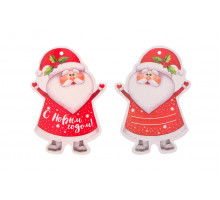 Картонная бирка «С Новым годом» Дед Мороз