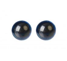 Глаза винтовые 12 мм синие Блестки