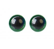 Глаза винтовые 12 мм зеленые Блестки