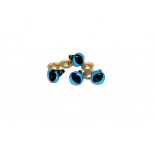 Глаза винтовые 14x21 мм голубые кошачьи (уценка)