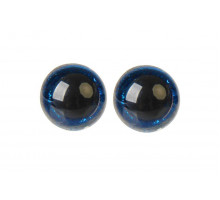 Глаза винтовые 16 мм синие Блестки