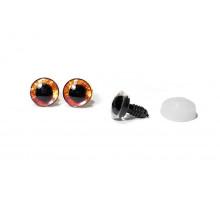 Глаза винтовые 18 мм оранжевые с искоркой