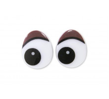 Глаза винтовые 18x22 мм коричневые овал
