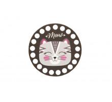 Заготовка для вязания круг 10 см «Киса Meow»
