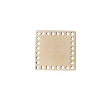 Донышко квадрат 10x10 см – сплошная заготовка 3 мм