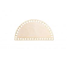 Донышко половина круга 20x10 см – сплошная заготовка 3 мм