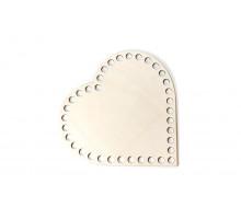 Донышко сердце 15x15 см – сплошная заготовка 3 мм