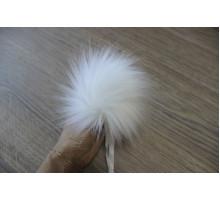 Помпон из экомеха 12-13 см белый