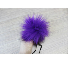 Помпон из экомеха 12-13 см фиолетовый