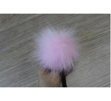 Помпон из экомеха 12-13 см нежно-розовый
