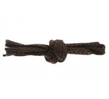 Шнурки для обуви 120 см черно-коричневые плоские 8 мм