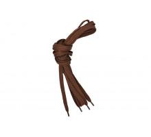 Шнурки для обуви 120 см коричневые плоские 8 мм