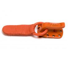 Крючок шубный металлический оранжевый